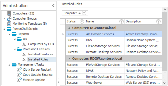 Make SysKit Monitor your central PowerShell repository and manage PowerShell tasks.