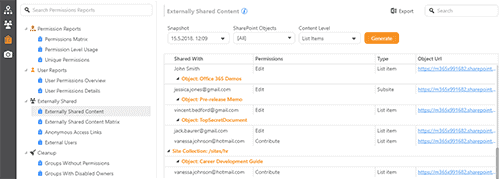 Detect all external users in the tenant and pinpoint externally shared content