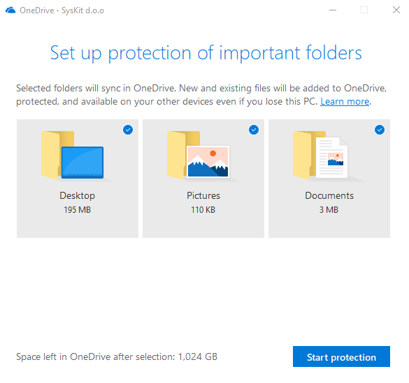 OneDrive for Business sync settings