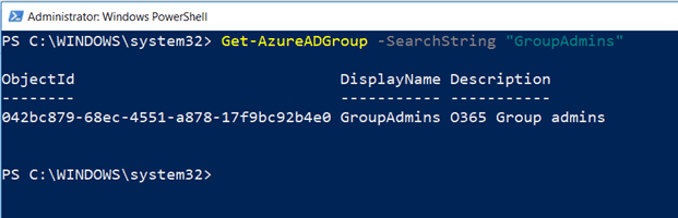 Get Group info in Azure Active Directory