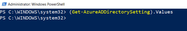Create a new Azure Active Directory Setting