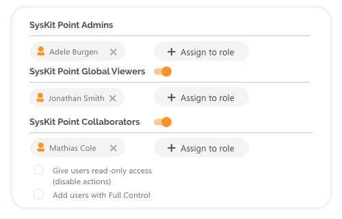 SysKit Point role-based security- add security roles
