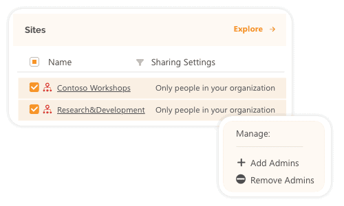Add or remove office 365 admins