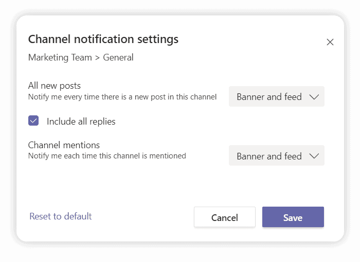 adjust your Microsoft Teams notifications for a remote work environment