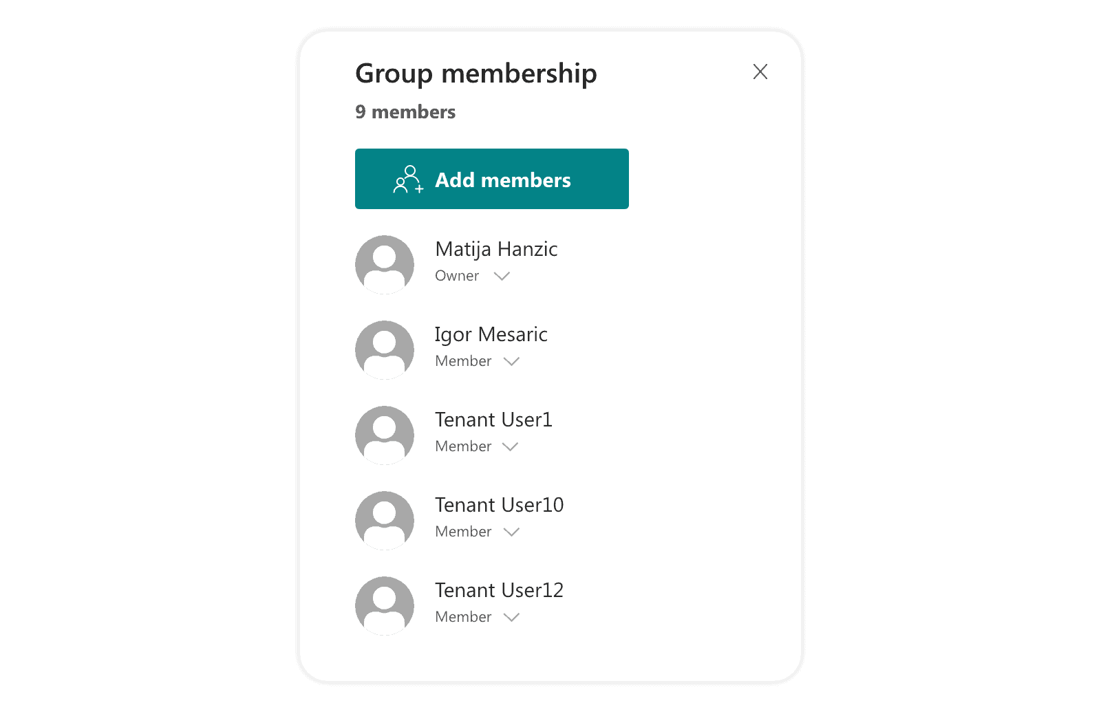 Group member role