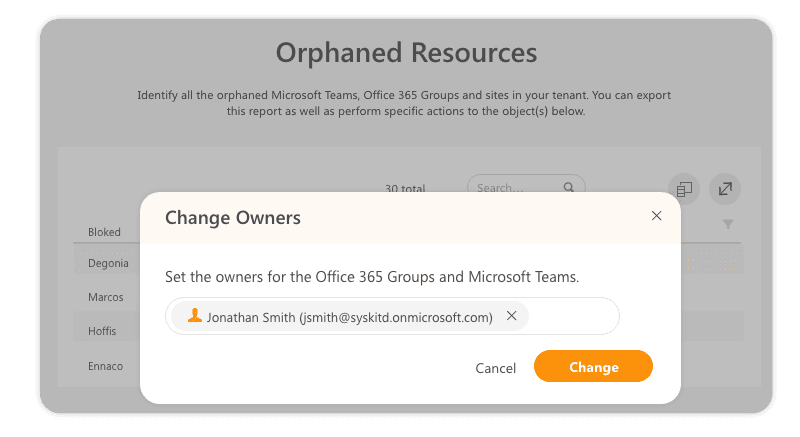 Add new owners to orphaned teams and groups