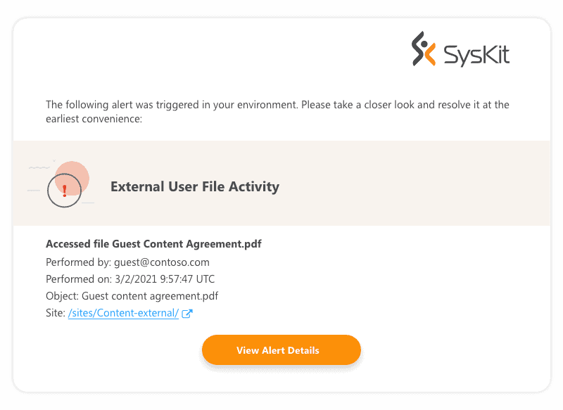 Microsoft Teams guest access alert