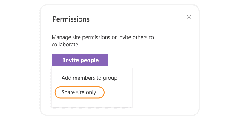 Share site only