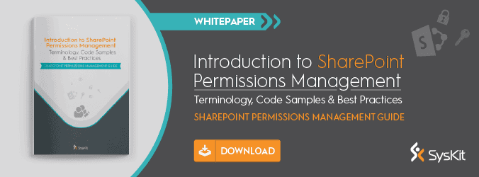 [Whitepaper] Introduction to SharePoint Permissions Management - featured image