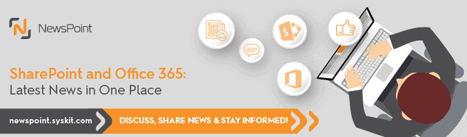 NewsPoint – SharePoint and Office 365 News in One Place! - featured image