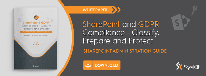 SharePoint and GDPR compliance