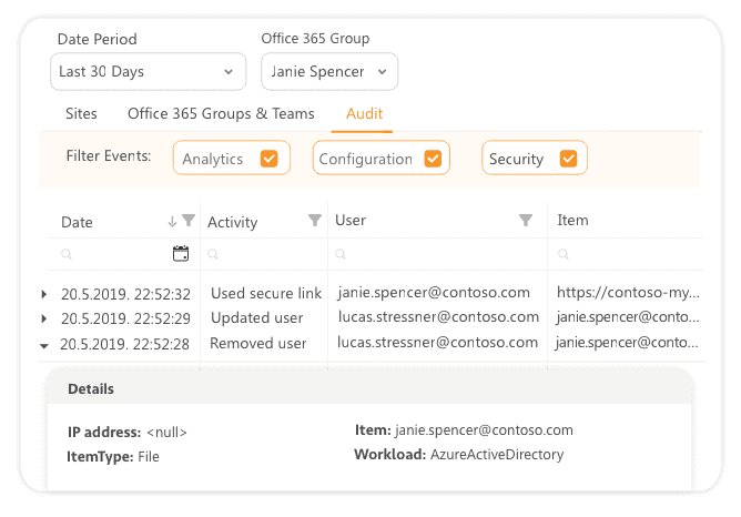 Powerful search options in Office 365 audit reports