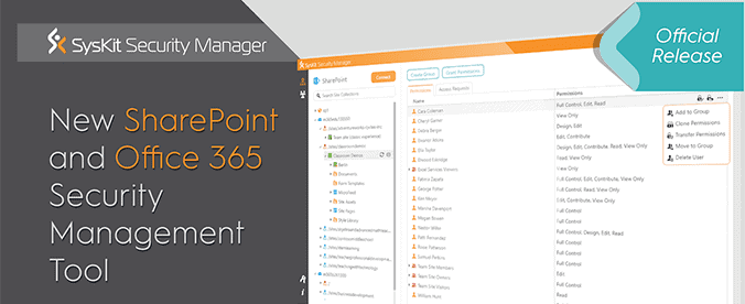 [New Product] SharePoint and Office 365 Security Management Tool - featured image
